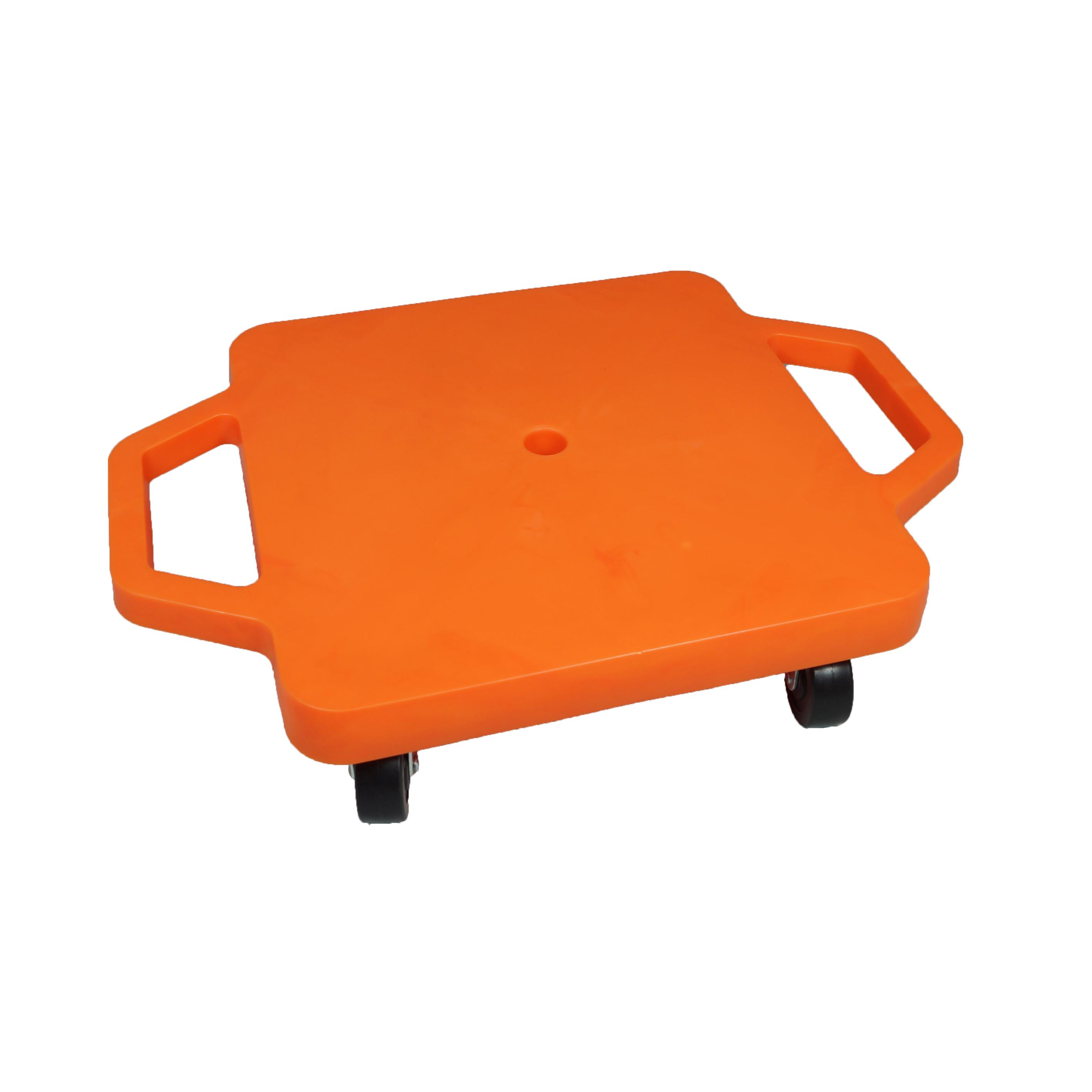 SYS116-O-12吋菱形手把滑板車-橘(室內用輪)