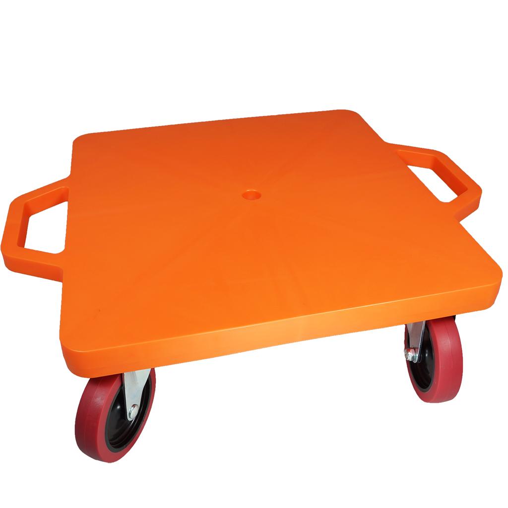 SYS119-O-16吋菱形手把滑板車-橘 (室內外兩用輪)