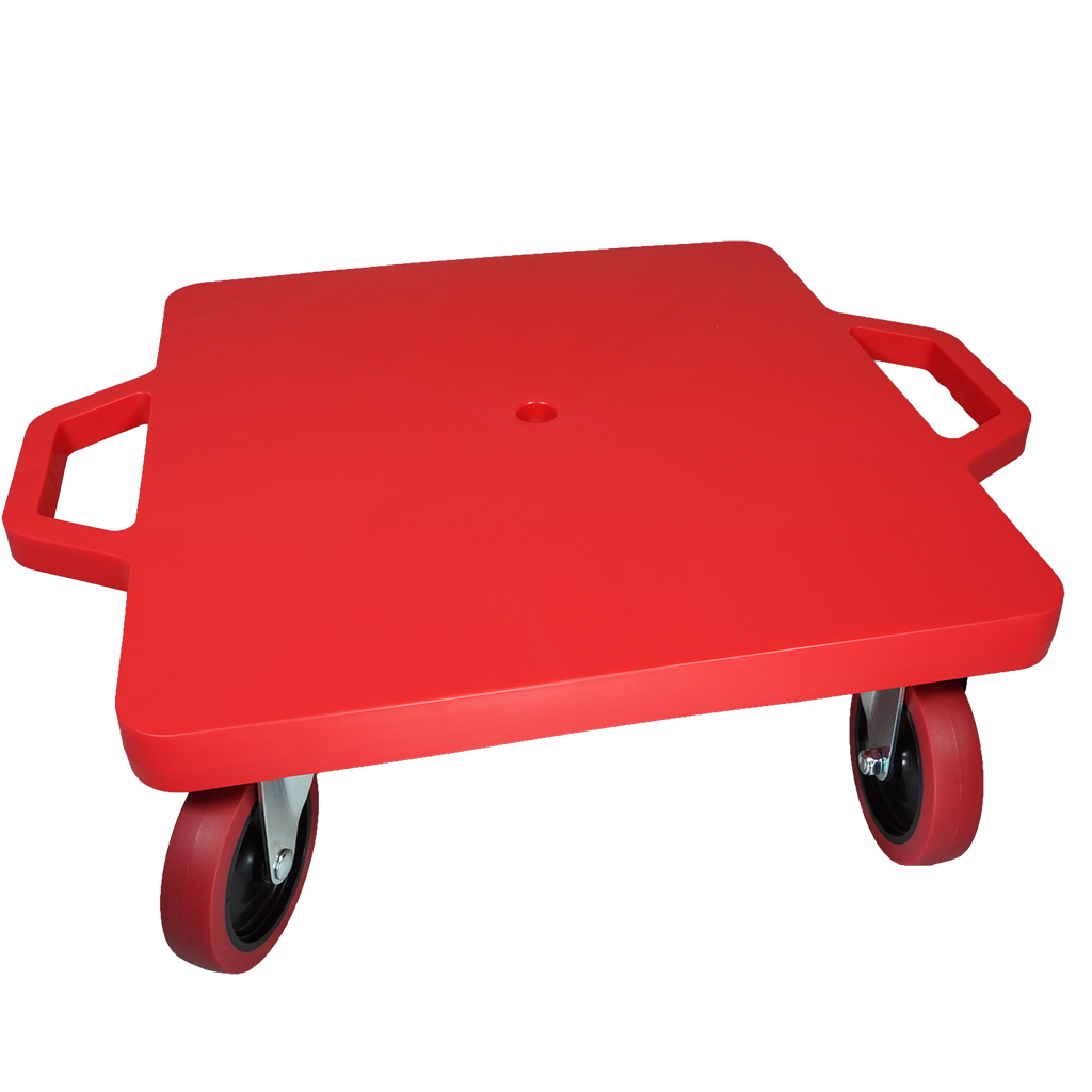 SYS119-R-16吋菱形手把滑板車-紅 (室內外兩用輪)