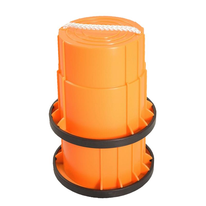 SYS158-O-止滑腳踏桶-橘(對)